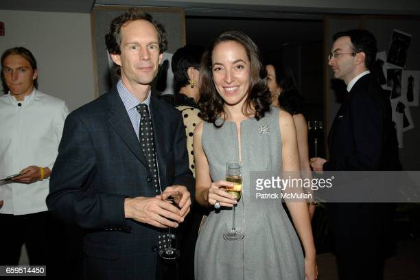 Charles Miers and Pamela Golbin attend Santiago Barberi Gonzalez hosts intimate dinner for Pamela Golbin to celebrate the launch of her book on...