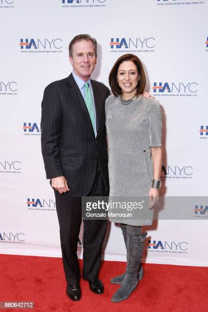 Charles Millard and Suri Kasirer during the Hotel Association of New York City hosts 'The Red Carpet Hospitality Gala' HANYC's Annual Dinner/Dance at...