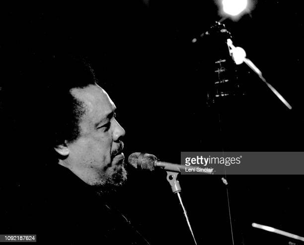 Charles Mingus jazz bass player performing with his group The Charles Mingus Jazz Workshop in Detroit at the Rainbow Room during a fourday engagement...