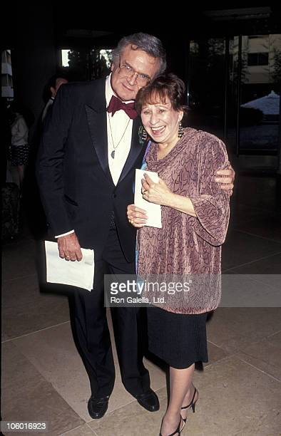 Charles Nelson Reilly and Alice Ghostley during 1991 GLAAD Media Awards at Beverly Hilton Hotel in Beverly Hills, California, United States.