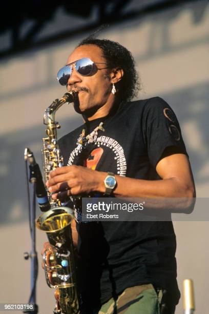 Charles Neville of The Neville Brothers performs at The Pier in New York City on July 17, 1987.