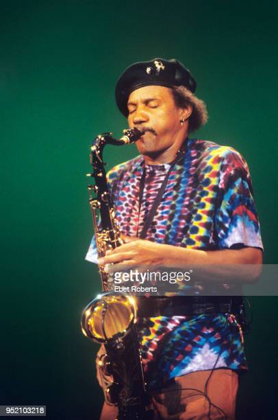 Charles Neville of The Neville Brothers performs in Central Park in New York City on August 13, 1992.