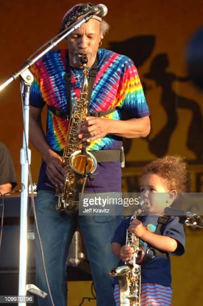 Charles Neville of the Neville Brothers with grandson