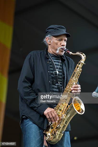 Charles Neville of The Nevilles performs at the New Orleans Jazz and Heritage Festival at the Fairgrounds Race Course in New Orleans, Louisiana on...