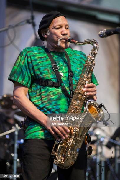 Charles Neville performing at the 2015 New Orleans Jazz and Heritage Festival at the Fairgrounds Race Track in New Orleans, Louisiana on May 2, 2015.