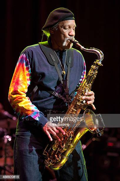 Charles Neville performs at the Civic Theatre on December 15, 2013 in New Orleans, Louisiana.