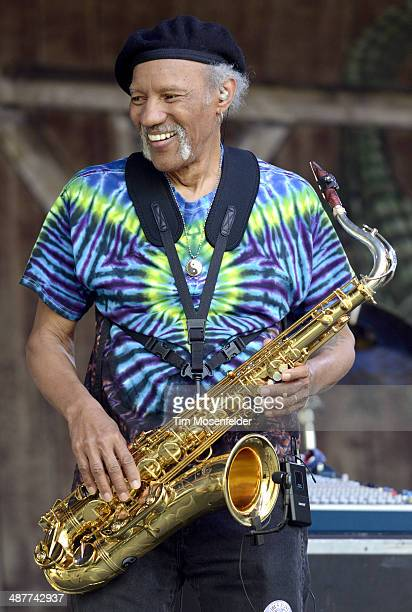 Charles Neville performs with BeauSoleil during Day 4 of the 2014 New Orleans Jazz & Heritage Festival at Fair Grounds Race Course on May 1, 2014 in...