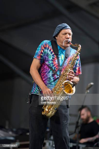 Charles Neville performs with Dr. John and the Gris-Gris Krewe at the New Orleans Jazz and Heritage Festival at the Fair Grounds Race Course in New...