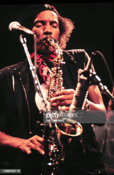 Charles Neville saxophonist for The Neville Brothers performs at First Avenue nightclub in Minneapolis, Minnesota in 1985.