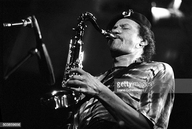 Charles Neville, tenor saxophone, performs with the Neville BROTHERS at the Paradiso on September 30th 1992 in Amsterdam, the Netherlands.