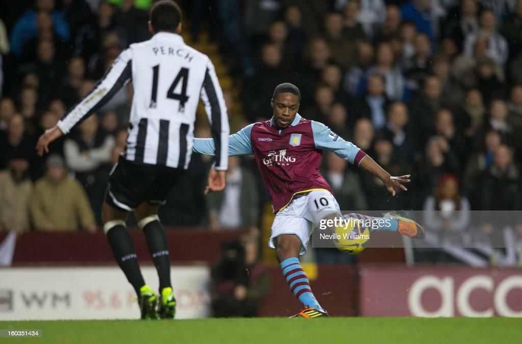 Charles N'Zogbia of Aston Villa during the Barclays Premier League match between Aston Villa and Newcastle United at Villa Park on January 29, 2013 in Birmingham, England.