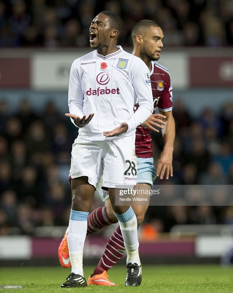 Charles N'Zogbia of Aston Villa during the Barclays Premier League match between West Ham United and Aston Villa at the Boleyn Ground on November 08, 2014 in London, England.