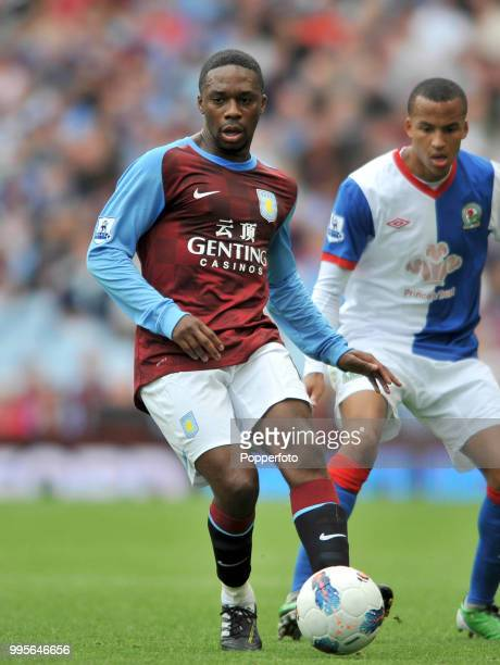Charles N'Zogbia of Aston Villa in action during the Barclays Premier League match between Aston Villa and Blackburn Rovers at Villa Park in...