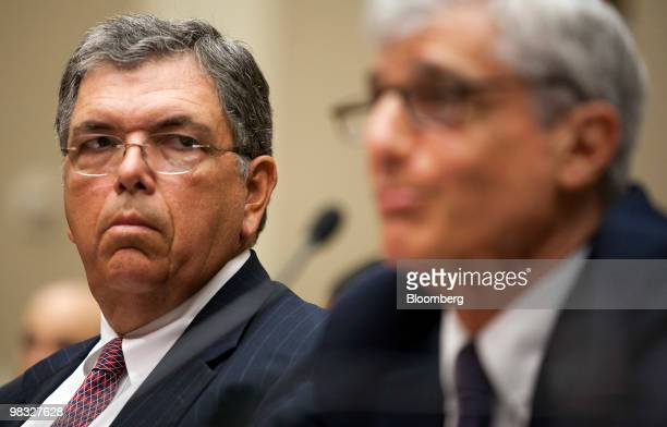 Charles O 'Chuck' Prince former chief executive officer of Citigroup Inc left and Robert Rubin former chairman of the bank's executive committee...