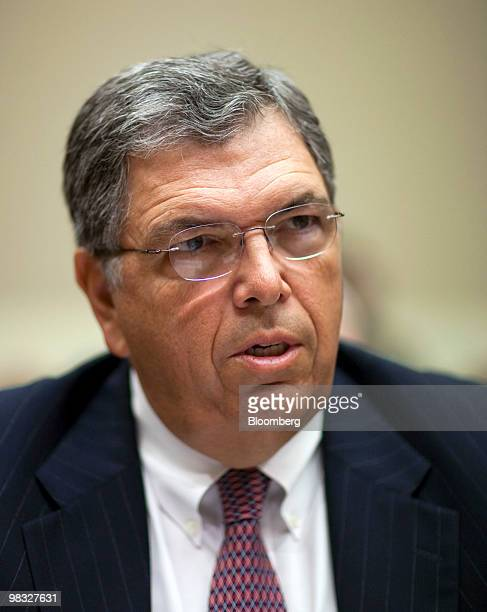 Charles O 'Chuck' Prince former chief executive officer of Citigroup Inc listens to opening statements during a hearing of the Financial Crisis...