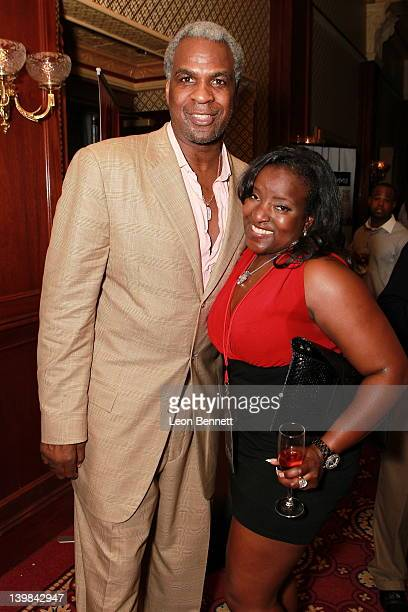 Charles Oakley and Keshia Walker attends 10th Annual Kenny The Jet Smith NBA AllStar Bash hosted by Mary J Blige on February 24 2012 in Orlando...