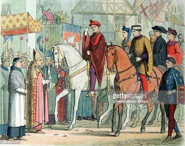Charles of France and Henry of England welcomed by the clergy