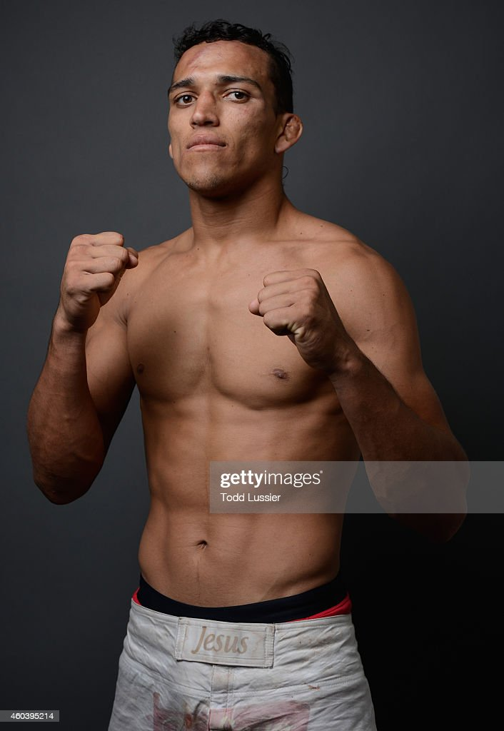Charles Oliveira poses for a post-fight portrait backstage during The Ultimate Fighter Finale event inside the Pearl concert theater at the Palms Casino Resort on December 12, 2014 in Las Vegas, Nevada.