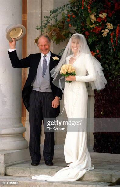 Charles Palmertompkinson And His Daughter Santa At Her Wedding To Simon Sebagmontefiore