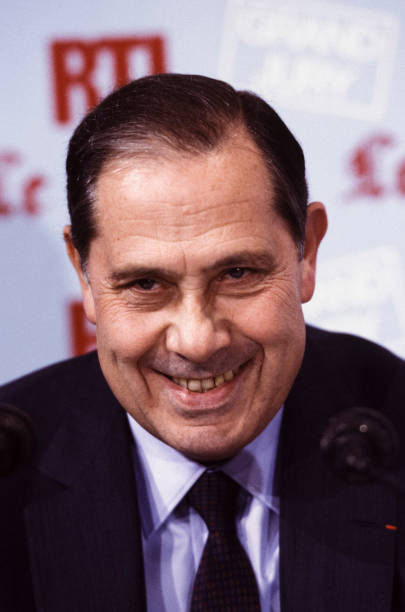 Portrait de Charles Pasqua en 1986 Pictures | Getty Images
