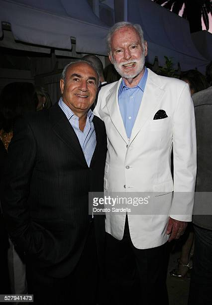 Charles Perez and Leonard Goldberg during Center Dance Art's Pool Party Sponsored by Yves Saint Laurent Inside Cocktail at Beverly Hills Hotel in...