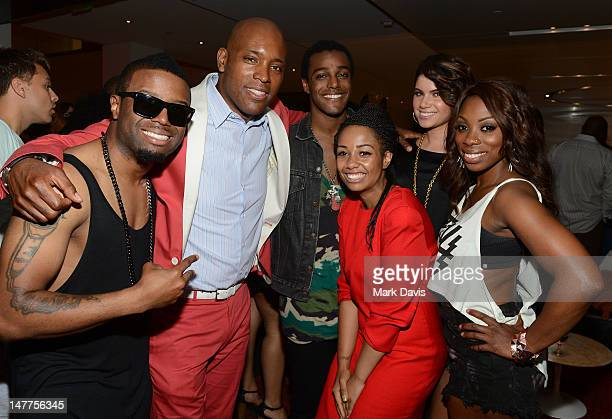 Charles Perry Kelly Griffin Austin Brown Leah LaBelle Jessyca Wilson and Jennah Bell pose at the 2012 BET Music Matters Showcase held at the Creative...