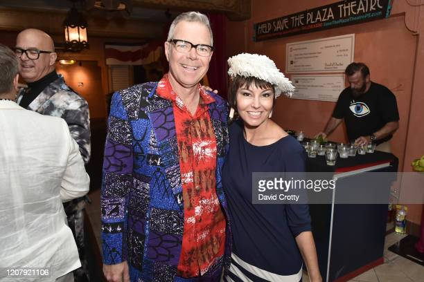 Charles Phoenix and Kellee McQuinn attend the House Of Cardin Special Screening At Palm Springs Modernism Week at The Plaza Theater on February 21...