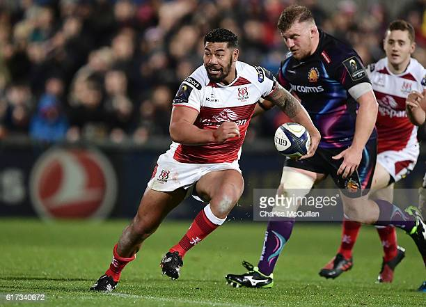 Charles Piutau of Ulster during the Champions Cup Pool 5 game between Ulster Rugby and Exeter Chiefs at Kingspan Stadium on October 22 2016 in...