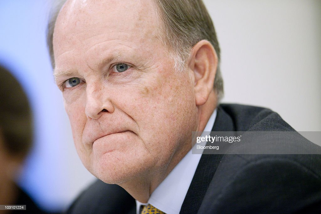 Charles Plosser, president of the Federal Reserve Bank of Philadelphia, listens during an interview in Washington, D.C., U.S., on Monday, July 26, 2010. Plosser said he sees no need now for more monetary stimulus while noting fundamental strength in the economy. Photographer: Andrew Harrer/Bloomberg via Getty Images