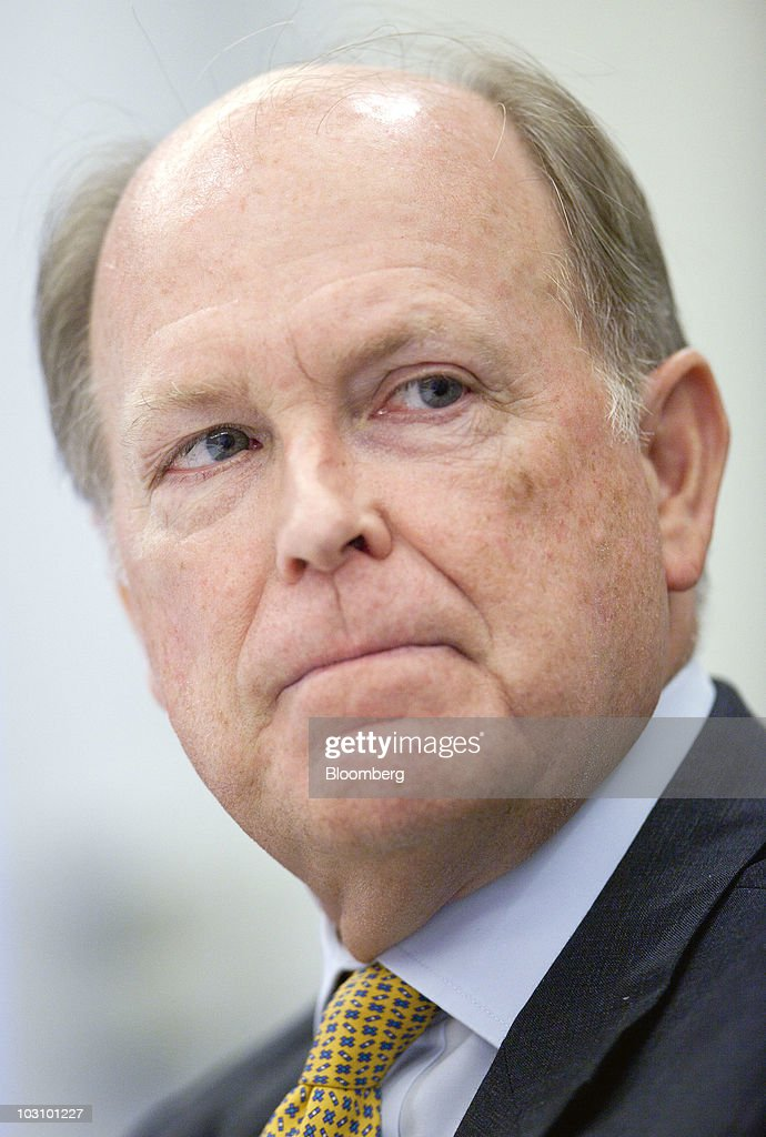 Charles Plosser, president of the Federal Reserve Bank of Philadelphia, speaks during an interview in Washington, D.C., U.S., on Monday, July 26, 2010. Plosser said he sees no need now for more monetary stimulus while noting fundamental strength in the economy. Photographer: Andrew Harrer/Bloomberg via Getty Images