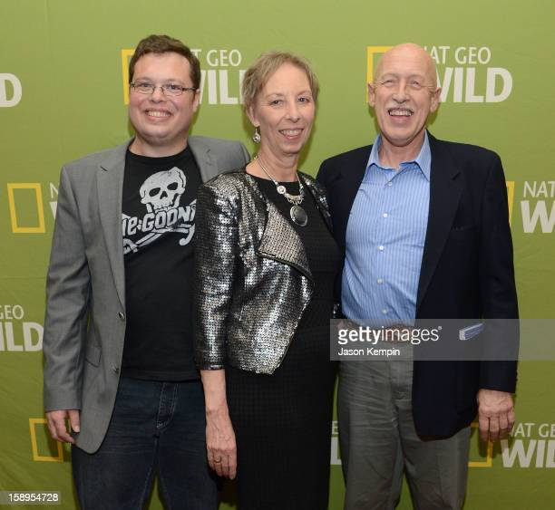 Charles Pol Diane Pol and Dr Jan Pol attend the National Geographic Channels' '2013 Winter TCA' Cocktail Party at the Langham Huntington Hotel on...