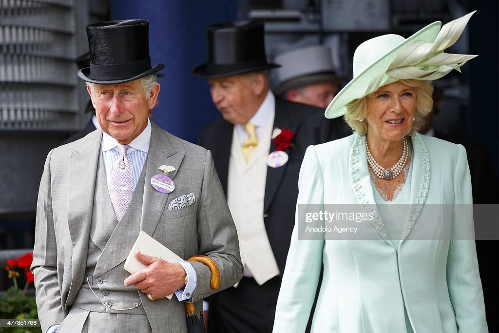 Charles, Prince of Wales and Camilla, Duchess of Cornwall attend day one of Royal Ascot at Ascot racecourse in Berkshire, on June 16, 2015. The 5 day showcase event, which is one of the highlights of the racing calendar, has been held at the famous Berkshire course since 1711 and tradition is a hallmark of the meeting. Top hats and tails remain compulsory in parts of the course.