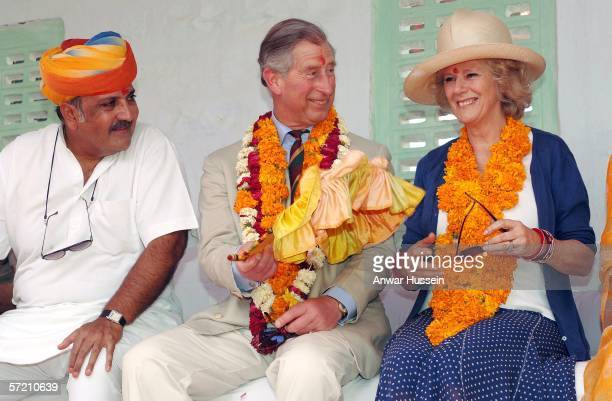 Charles Prince of Wales and Camilla Duchess of Cornwall feel the heat at the village of Artiya on the tenth day of their 12 day official tour...