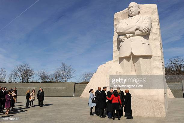 Charles Prince of Wales and Camilla Duchess of Cornwall visit the Martin Luther King Jr Memorial on Wednesday March 18 2015 in Washington DC They...