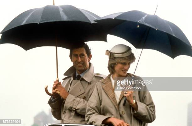 Charles Prince of Wales and Diana Princess of Wales on the Canadian Royal Tour in Halifax Nova Scotia on June 15 1983