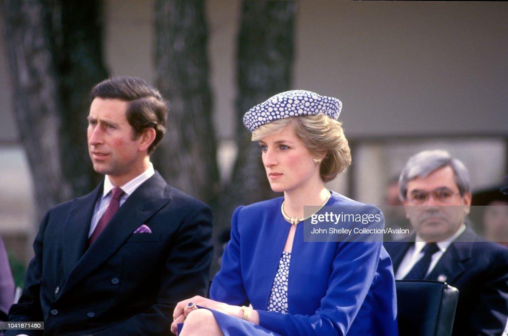 Charles and Diana Visit Canada : News Photo