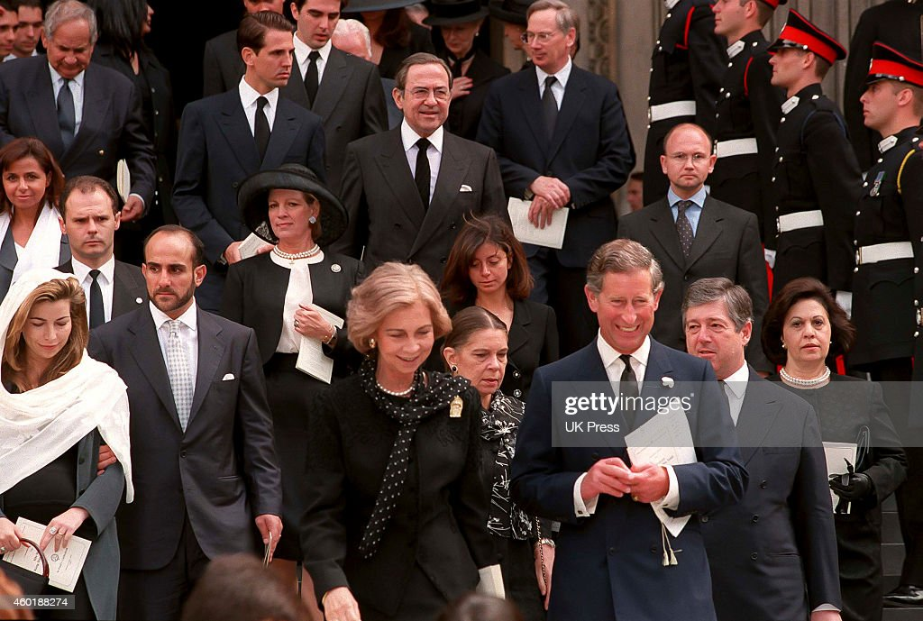 KIng Hussein Memorial Service, at St Pauls Cathedral, London : News Photo