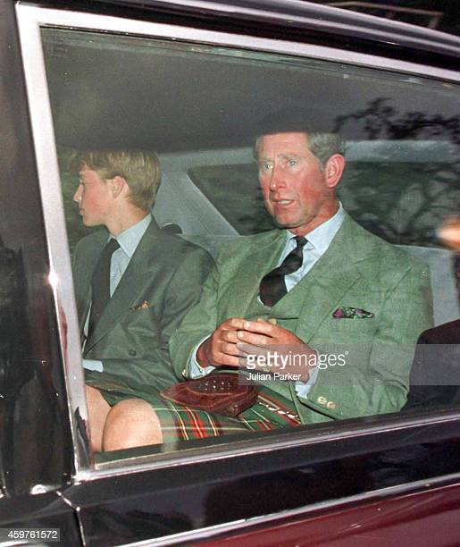 Charles, Prince of Wales, and Prince William attend Crathie Kirk Church, near Balmoral Estate, on 31st Aug 1997, the morning after the death of...