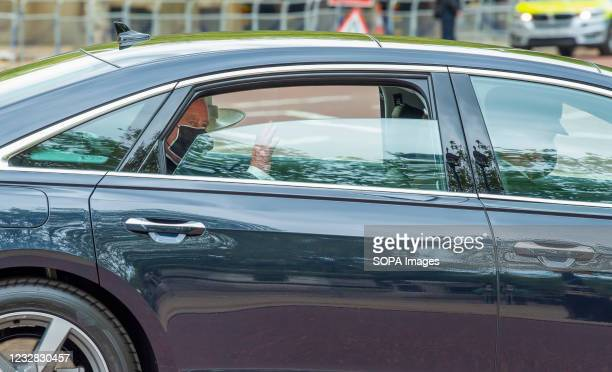 Charles, Prince of Wales on route along The Mall in London to the State Opening of Parliament with Camilla, Duchess of Cornwall.