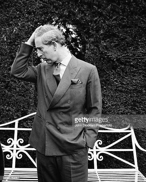 Charles Prince of Wales posed at his house Highgrove in Gloucestershire England in 2002