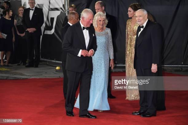 Charles, Prince of Wales, Prince William, Duke of Cambridge,, Camilla, Duchess of Cornwall, Catherine, Duchess of Cambridge and Michael G. Wilson...