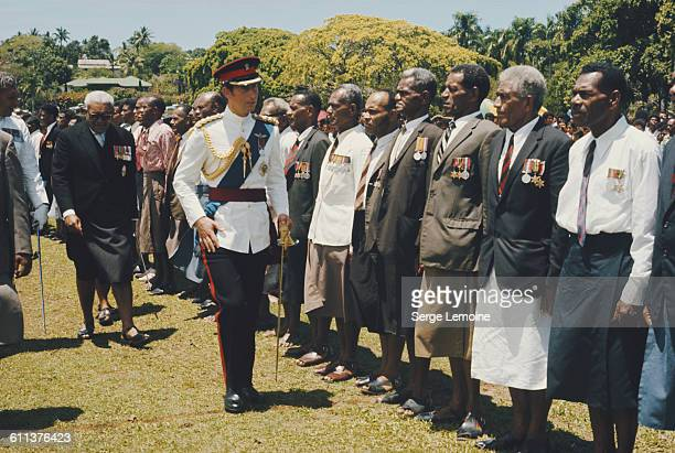 Charles, Prince of Wales, represents the Queen at the centenary celebrations in Fiji, October 1974.