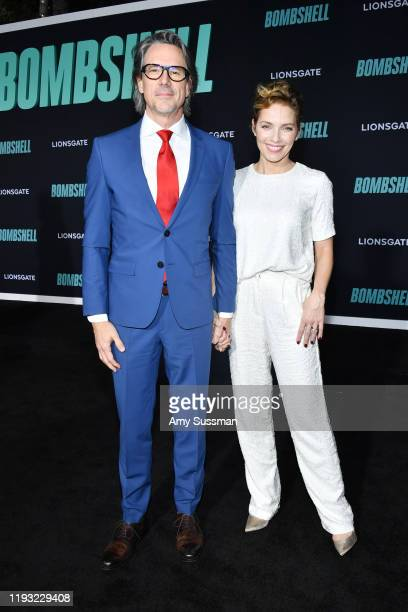 """Charles Randolph and Mili Avital attend the special screening of Liongate's """"Bombshell"""" at Regency Village Theatre on December 10, 2019 in Westwood,..."""