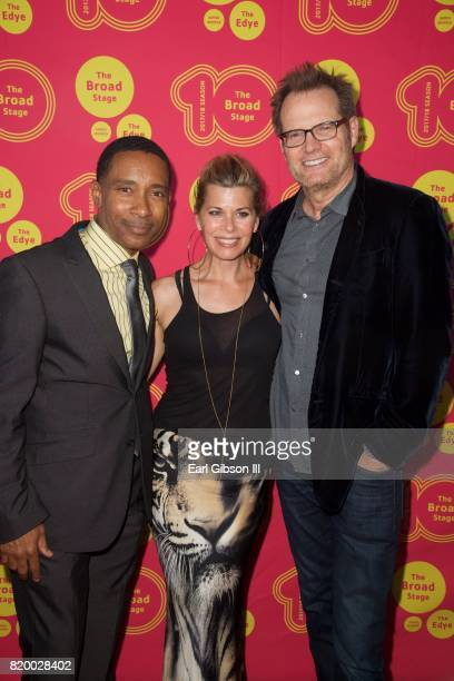 Charles RandolphWright Beth Toussaint and Jack Coleman attend the Opening Night of Born For This at The Broad Stage on July 20 2017 in Santa Monica...