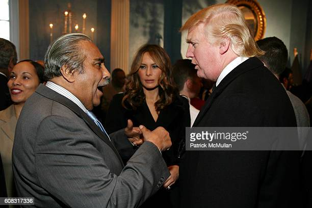 Charles Rangel Melania Trump and Donald Trump attend CHARLES B RANGEL Book Party Hosted by MAYOR MICHAEL BLOOMBERG at Gracie Mansion on April 10 2007...