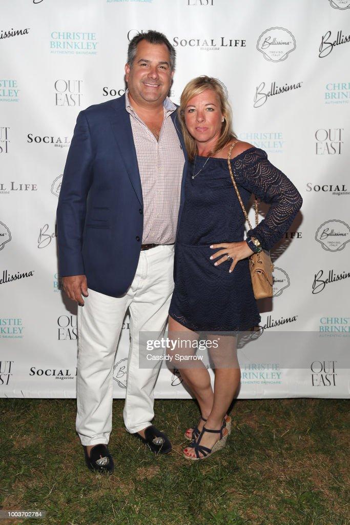 Charles Regensburg and Regina Quinan Attend 7th Annual St. Barth Hamptons Gala at Bridgehampton Historical Museum on July 21, 2018 in Bridgehampton, New York.