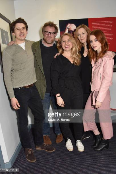 Charles Reston Chris Larkin Hannah Price Natasha Little and Rosie Day attend the press night after party for 'Again' at Trafalgar Studios on February...