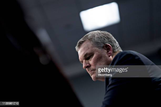 Charles Rettig, commissioner of the Internal Revenue Service , listens during a House Appropriations Subcommittee hearing in Washington, D.C., U.S.,...