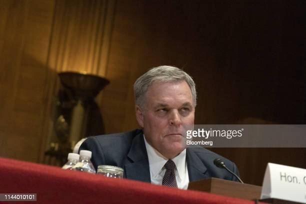 Charles Rettig, commissioner of the Internal Revenue Service , listens during a Senate Appropriations Financial Services Subcommittee hearing in...