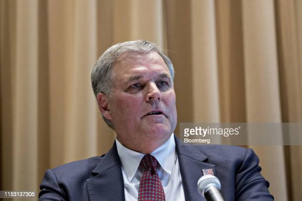 Charles Rettig, commissioner of the Internal Revenue Service , speaks during an IRS Criminal Investigation 100th year anniversary event at the IRS...